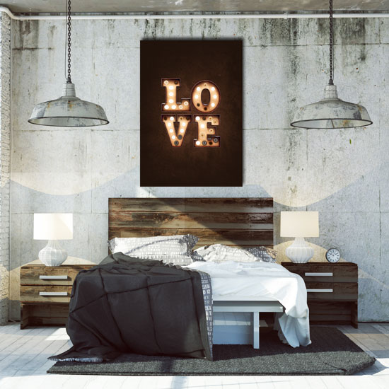 plakaty z napisami do sypialni