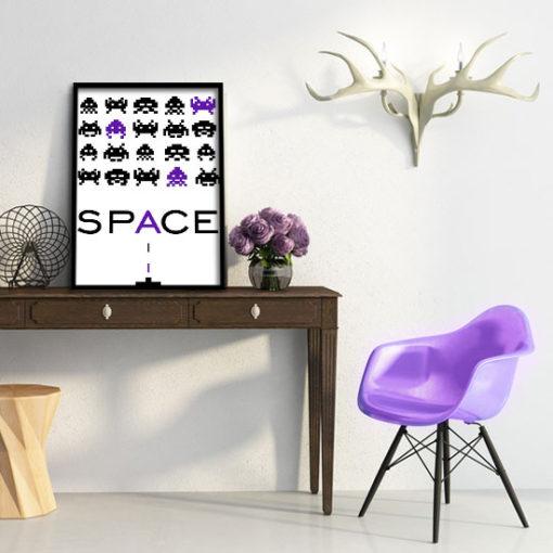 grafika w kolorze fioletowym