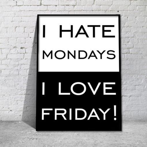 grafika nienawidzę poniedziałku