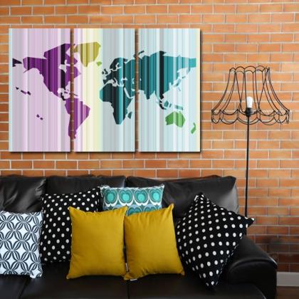 plakat mapa świata