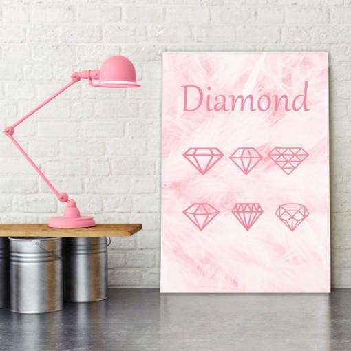 diamenty na plakacie