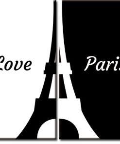dwa plakaty z Paryżem
