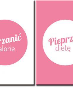 plakaty o diecie