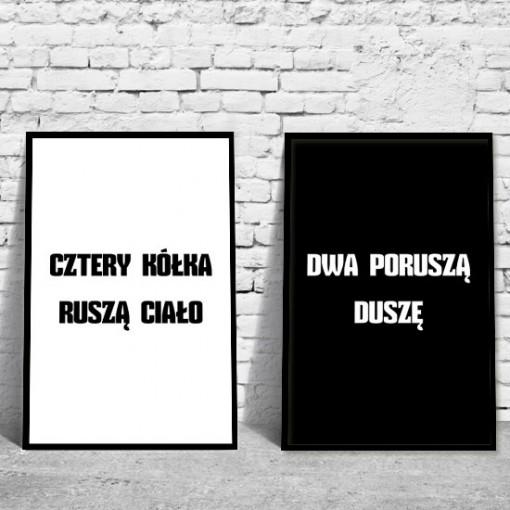 podwójny plakat z typografią