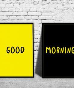 obraz dyptyk z typografią