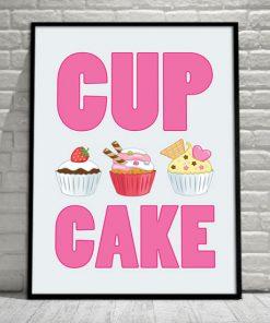 kolorowe muffinki na plakacie