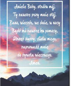 plakat rozmowa z aniołem