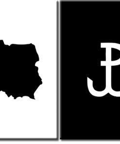 plakat z godłem Polski