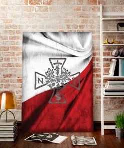 plakat z flagą