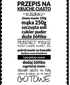 plakat receptura kuchenna