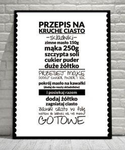 plakat o jedzeniu