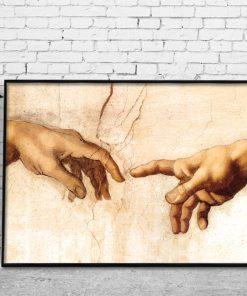 plakat z dłońmi