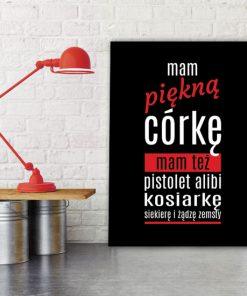 plakat z czerwienią