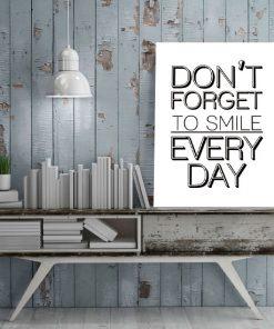 plakat o uśmiechu