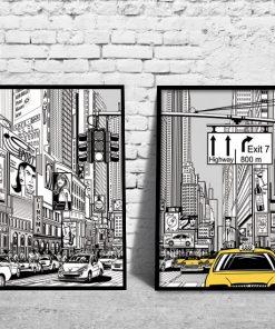 plakat z miastem