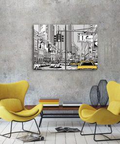 graficzne miasto na plakacie