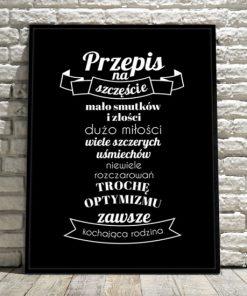 plakat z motto