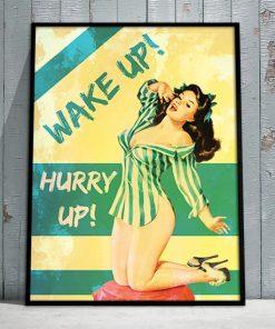 plakat z kobieta