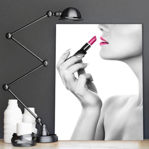 plakat różowe usta