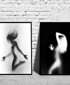 plakaty z ciałem kobiecym