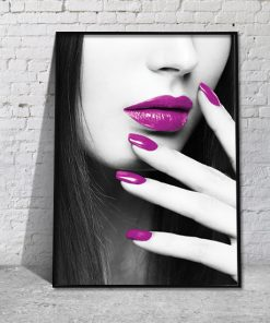plakat fioletowy makijaz