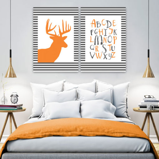 plakat pomarańczowy
