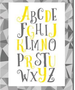 plakat z literkami