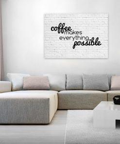 plakat z mottem o kawie