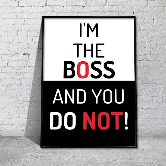 plakat w ramie z motywacyjnym napisem