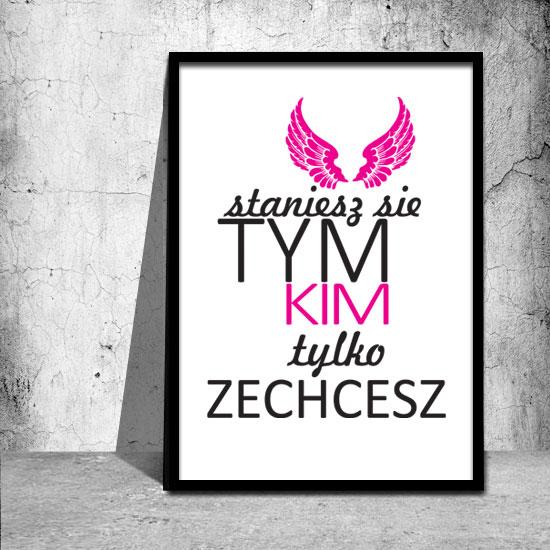 różowy plakat motywacyjny