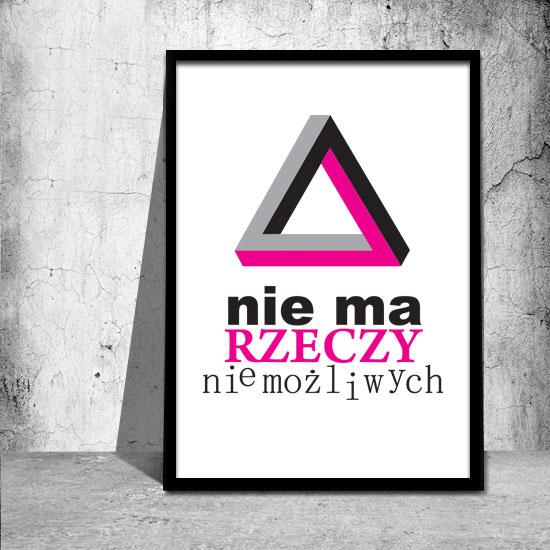 plakaty z motywacyjnymi napisami różowe