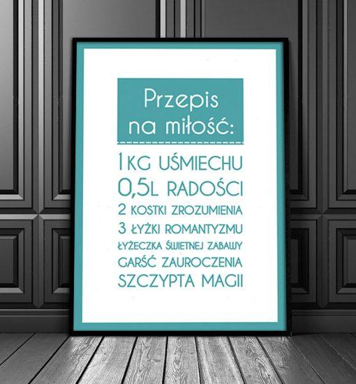 plakaty do salonu z napisami