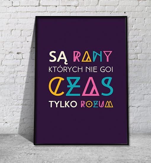 fioletowy plakat na ścianę