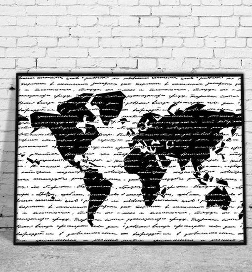 plakaty czarno-białe grafiki