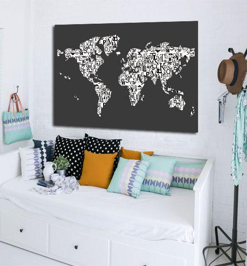 mapa świata plakat na ścian