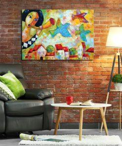 obrazy na ceglaną ścianę