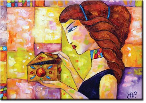 plakat rudowłosa kobieta