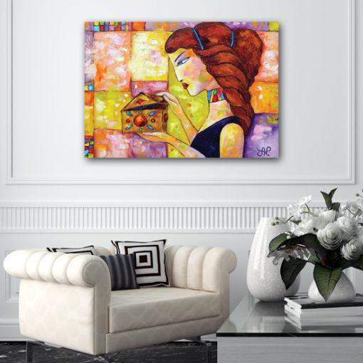 plakat kobieta z puzderkiem
