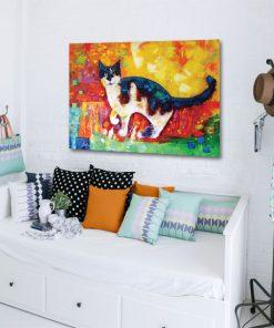 plakat z kotem dla dzieci