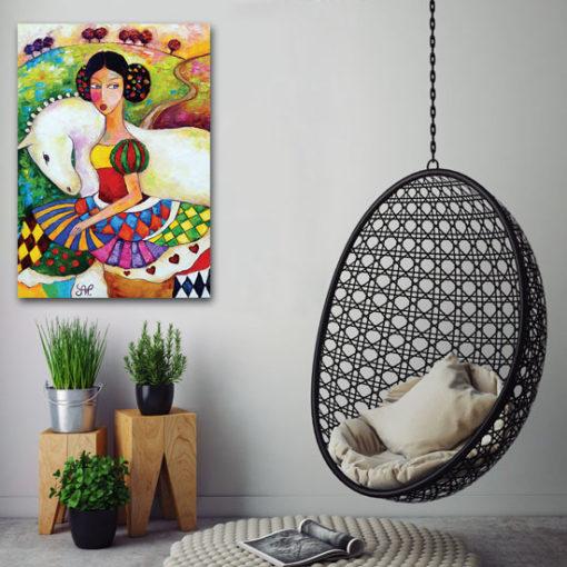 plakat z reprodukcją malarstwa