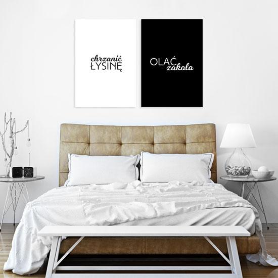 plakaty na ścianę czarno-białe