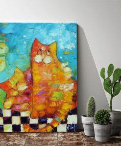 plakat jak malowany wesołe kotki