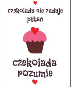 plakat o czekoladzie