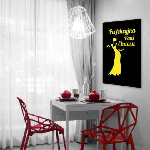 plakat żółty