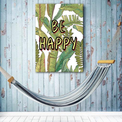 plakat z motywem tropikalnym