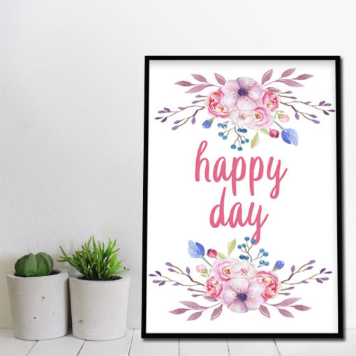 plakat szczęśliwy dzień