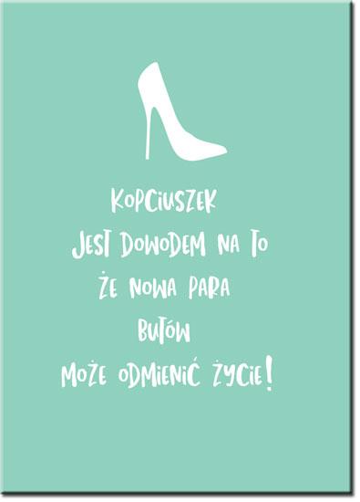 plakat z modnym napisem