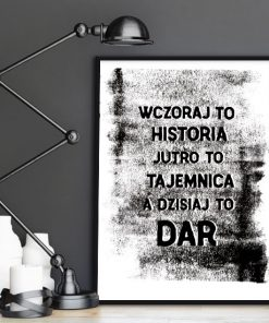 plakat z modna sentencją