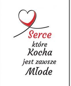 plakat z miłosnym mottem