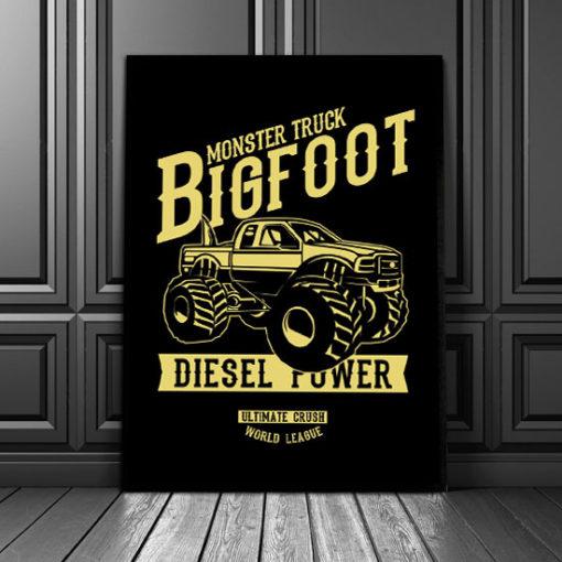 plakaty monster truck